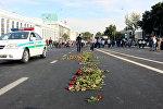 Проводы траурного кортежа с телом первого президента Узбекистана Ислама Каримова в Ташкенте