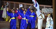 Делегация сборной Южной Кореи на параде участников Всемирных игр кочевников на церемонии открытия. Архивное фото