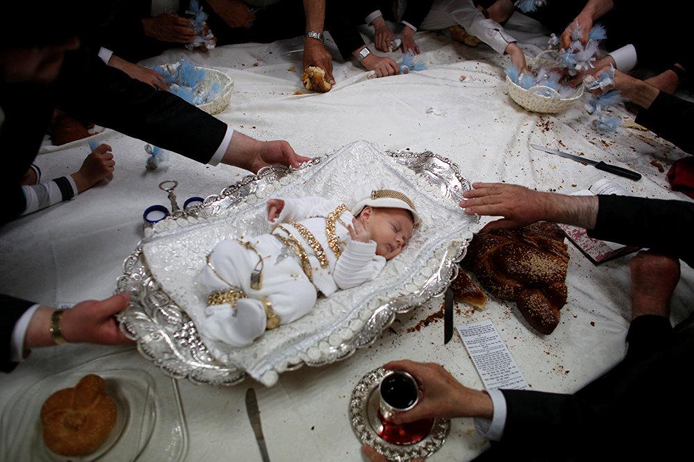 Иудейлердин Биринчи баланы сатып алуу диний майрамы. Иерусалим, Израиль