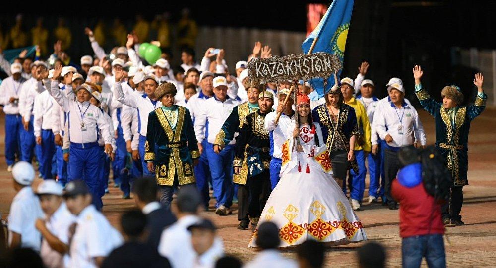 Казакстандын спортчулары көчмөндөрдүн дүйнөлүк оюндарында. Архивдик сүрөт