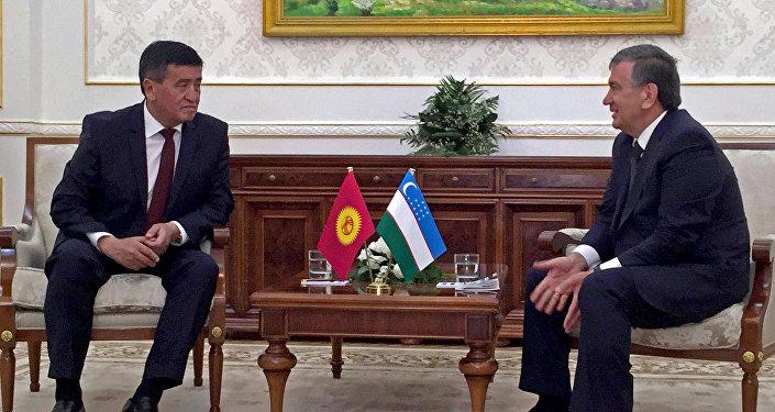 Премьер-министр Сооронбай Жээнбеков Өзбекстандык кесиптеши Шавкат Мирзиеев менен жолукту