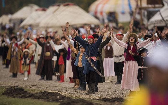 Театральное шоу в рамках Всемирных игр кочевников. Архивное фото