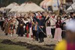 Театральное шоу в рамках Всемирных игр кочевников на джайлоо Кырчын