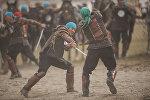 Театрализованное шоу в рамках Всемирных игр кочевников на джайлоо Кырчын