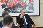 Президент РФ Владимир Путин на пресс-конференции по итогам саммита Группы двадцати G20 в Ханчжоу.