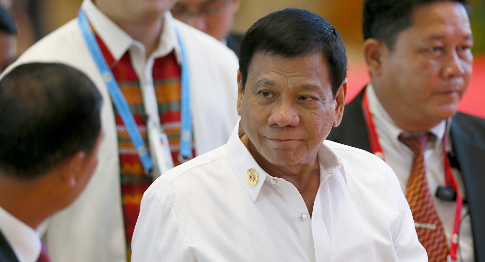 Филиппиндердин президентти Родриго Дутертенин архивдик сүрөтү