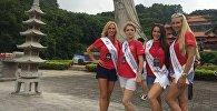 Участницы международного конкурса красоты Миссис Вселенная — 2016 в Гуанчжоу