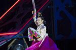 Түштүк Кореялык кыз. Архивдик сүрөт