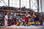 Көчмөндөр оюндарынын алкагында өткөн кыргыз күрөш турнири