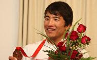 Борец греко-римского стиля, призёр Олимпийских игр Руслан Тюменбаев. Архивное фото