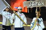 Япониядан келген машыктыруучу Сейко Вазаки экинчи  Дүйнөлүк көчмөндөр оюндарын ачылыш аземинде