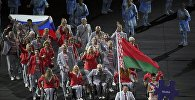 Спортсмен из Беларуси с российским флагом на церемонии открытия Паралимпийских игр-2016 в Рио-де-Жанейро