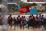 Кыргызстандын жана Казакстандын көк бөрү оюнчулары. Архив