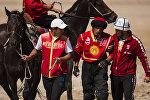 Архивное фото спортсменов сборной Кыргызстана по кок-бору