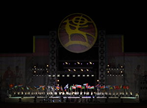 Церемония закрытия Всемирных игр кочевников на ипподроме в Иссык-Кульской области