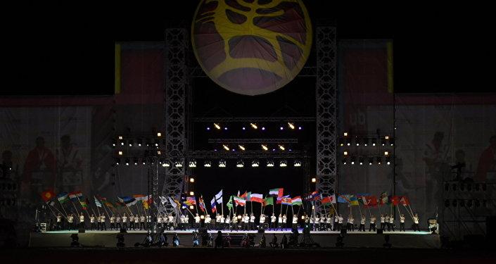 Всемирные игры кочевников на ипподроме в Иссык-Кульской области. Архивное фото