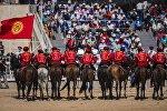 Кыргызстандын көк-бөрү боюнча улуттук командасы. Архивдик сүрөт