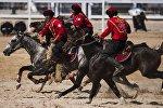 Көк-бөрү боюнча Кыргызстандын курама командасы. Архивдик сүрөт
