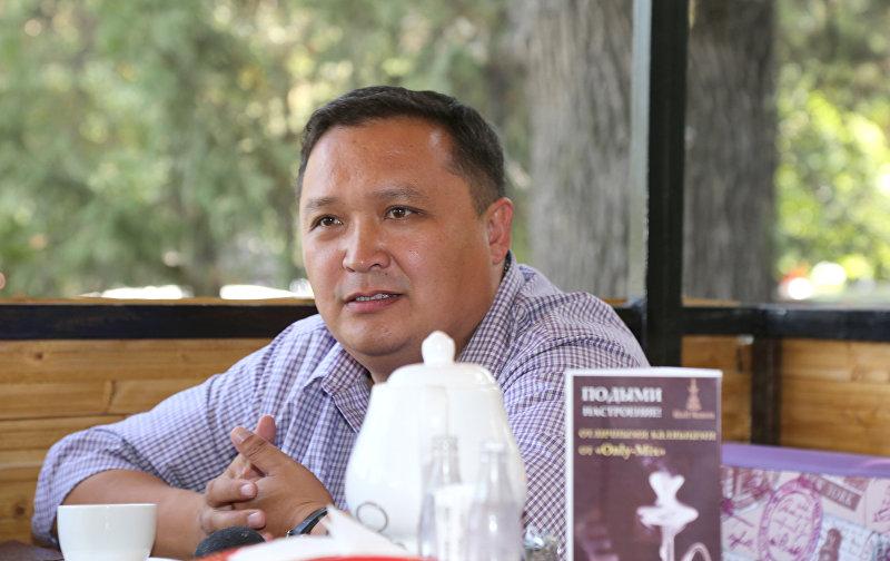 Основатель группы предпринимателей Покупай кыргызское. Производство – основа развития Бакыт Дегенбаев.