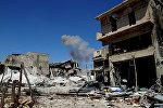 Освобожденный бойцами сирийской армии район Рамусе на юге Алеппо.