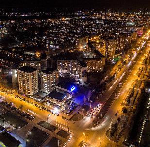 Микрорайон Асанбай в Бишкеке. Вид с высоты птичьего полета
