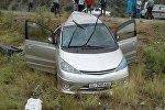 Бишкек — Ош кан жолунда HOWO үлгүсүндөгү жүк ташуучу унаа кагышып кеткен Toyota Estima