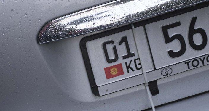 Продажа новых автомобильных номеров в Кыргызстане