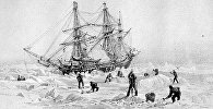 Муздарга кыпчылып калган HMS Terror аттуу кемени тартып алган капитан Бэк