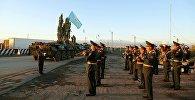 Прибытие воинского контингента Республики Казахстан со своей боевой техникой для участия в военных антитеррористических командно-штабных учениях Мирная миссия — 2016
