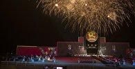 Праздничный салют на торжественном открытии Вторых Всемирных игр кочевников в Бактуу Долоноту