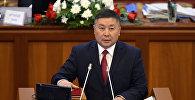 Депутат ЖК 6-го созыва Канатбек Исаев от партии Кыргызстан. Архивное фото
