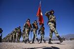 Военнослужащие Кыргызстана на военных учениях. Архивное фото