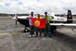 Кругосветное путешествие на маленьком самолете кыргызстанца Союзбека Салиева