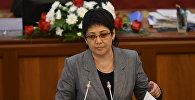 Архивное фото депутата ЖК КР от партии СДПК Асель Кодурановой