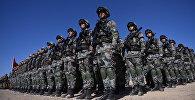 Военнослужащие на учениях стран ШОС. Архивное фото