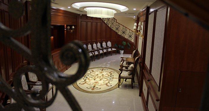 Цокольный этаж дома приемов в госрезиденции Ала-Арча