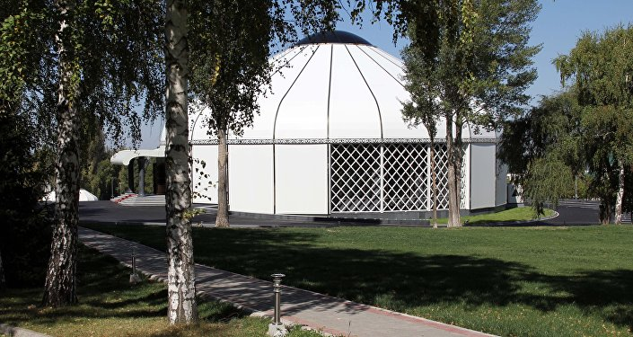 Дом приемов в форме юрты в госрезиденции Ала-Арча