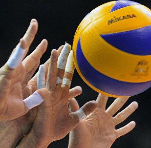 Волейбол оюнчулары. Архив