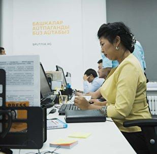 Sputnik Кыргызстандын редактору Канышай Бешбаева. Архивдик сүрөт