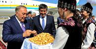 Прибытие президента Казахстана Нурсултана Назарбаева в Бишкек в рамках саммита СНГ