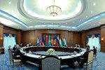 Президент Кыргызстана Алмазбек Атамбаев на заседании Совета глав государств – участников Содружества Независимых Государств в Бишкеке