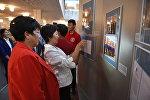 В Национальной библиотеке КР сегодня открылась историко-документальная выставка Россия и Кыргызстан. 1916-2016: вехи совместной истории.