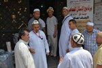 Кыргызстандык ажыга барган мусулмандардын архивдик сүрөтү