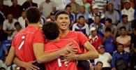 Волейболисты сборной Кыргызстна во время матча. Архивное фото