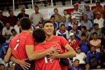 Кыргызстандын волейбол боюнча курама командасынын оюнчулары. Архив