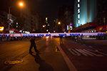 Оцепленное место взрыва в Нью-Йорке. Архивное фото