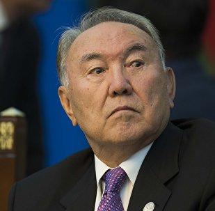 Казакстандын президенти Нурсултан Назарбаевдин архивдик сүрөтү