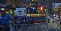 Ситуация на улицах Манхеттена после произошедшего взрыва