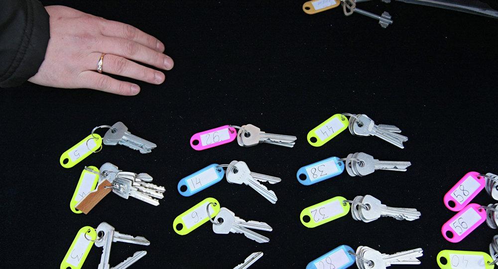 Вручение ключей от новых квартир молодым ученым