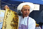 Ош облусуна караштуу Кара-Кулжа районунун борборунда бал фестивалынын катышуучусу
